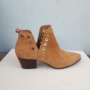 Sam Edelman | Ankle Boots Rivets Brown Suede
